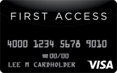 First Access Solid Black VISA Credit Card