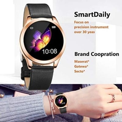SmartDaily Rose Gold Smart Watch for Women